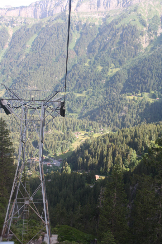 view from the Trift cable car, Gadmen, Switzerland