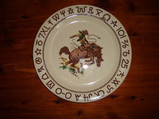 Rodeo Westward Ho western dinner plate