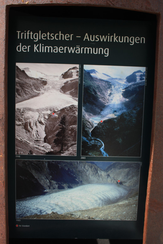 more information of the Trift hanging bridge, Switzerland
