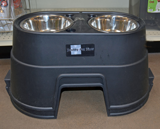 Upright dog bowls are said to decrease the chance of bloat in large chested dogs.