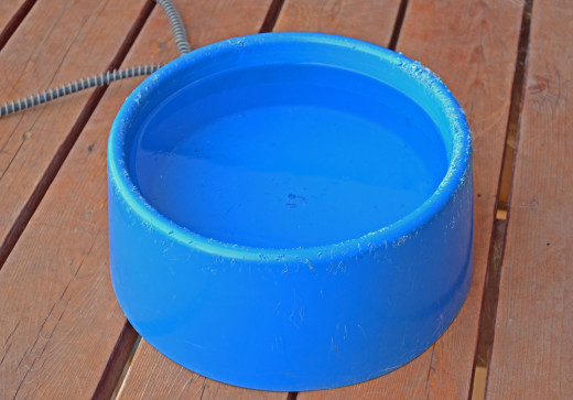 The never freeze bowl is a great dog water bowl for cold winters and keeps water from ever freezing.