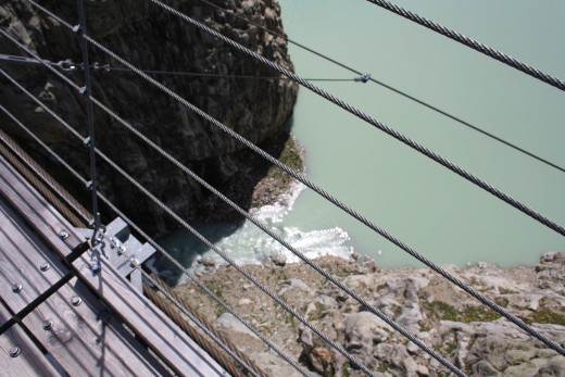 The Trift hanging bridge, Switzerland