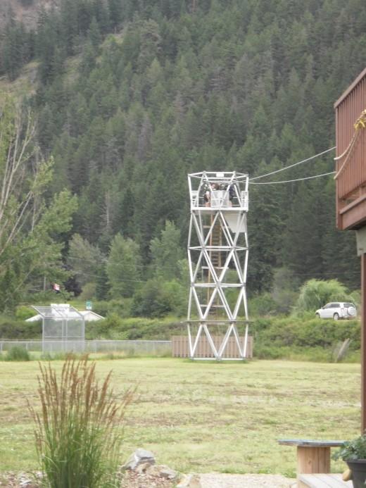 Flying Fox training tower