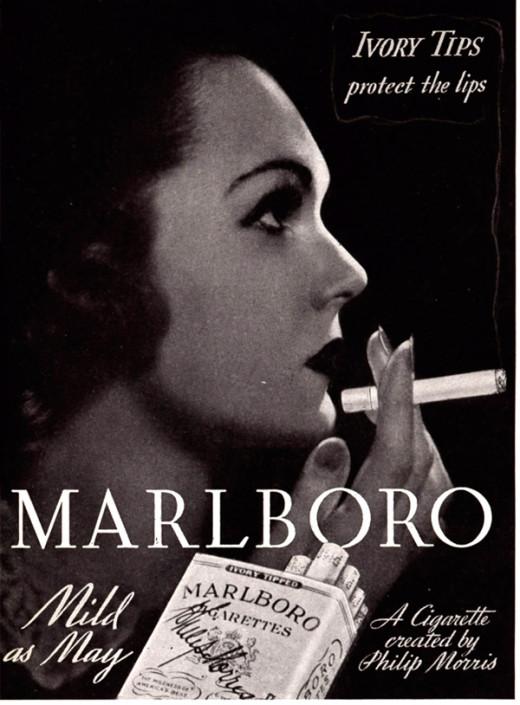 Advertisement for Marlboro Cigarettes