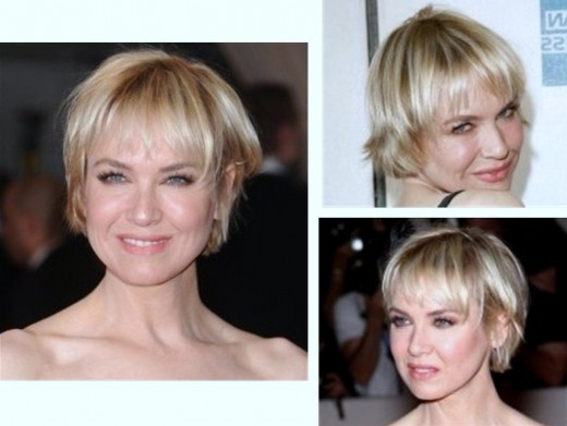 Medium short hair with full fringe