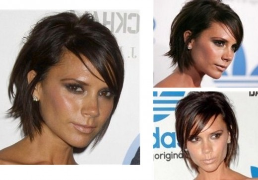 Medium short hair with side swept fringe