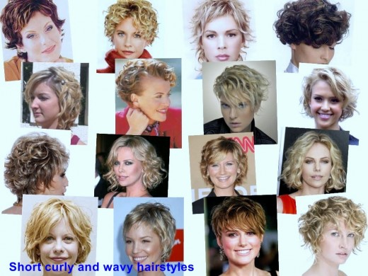 Short curly and wavy hairstyles