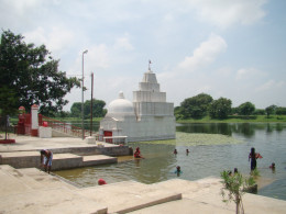 The temple in the pond (Kshir Dighi)