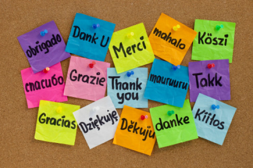 Thanks in any language