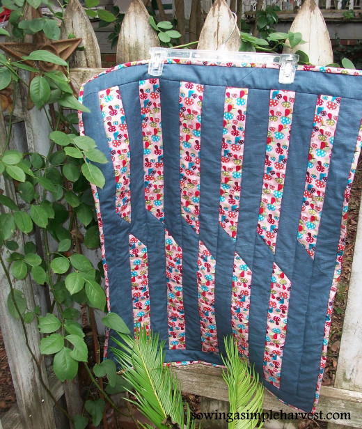 A garden is always a great place for photographing a quilt.