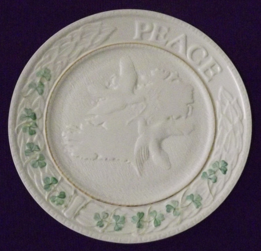 Belleek Shamrock Peace Plate