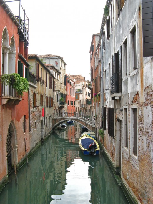"One of the many water ""streets"" in Venice."