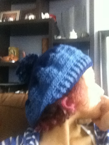 I love slouchy hats.  When my hair was long they were the only hats that I could really wear without looking stupid.