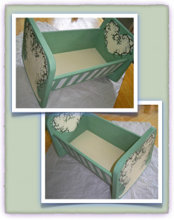 Build and Paint a Toy Cradle