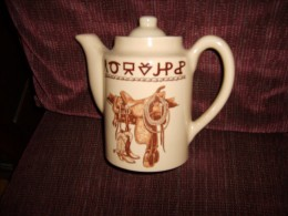Boots and Saddle coffee pot made by True West.
