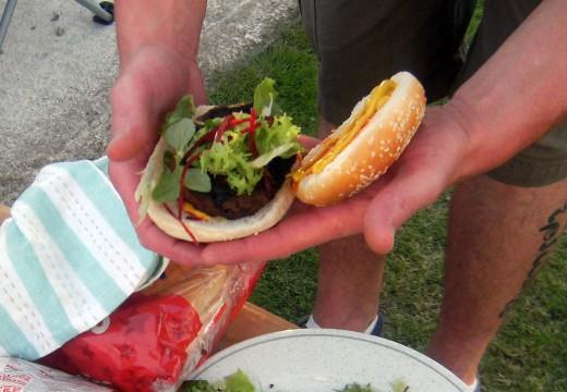 Hamburger on a bun recipe