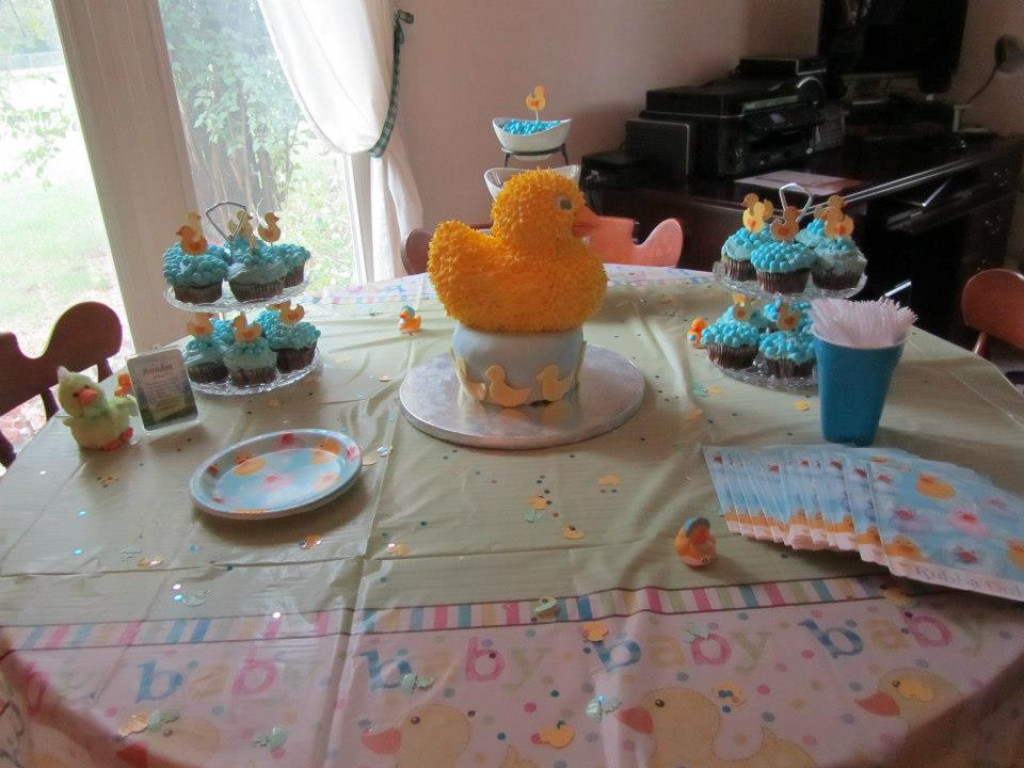 baby shower theme rubber ducky