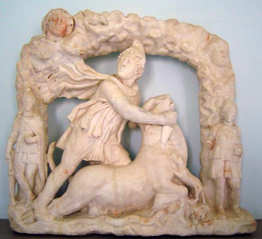 Mithras slays a bull