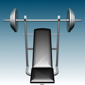 A bench and a set of weights can be used to perform a variety of exercises that can shape your core and upper body.
