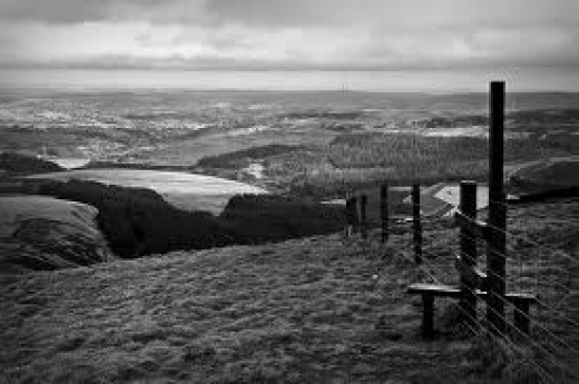 The 'tops' in Summer Wine country allow views far off in all directions