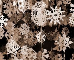 Create Paper Snowflakes for an Indoor Snowstorm