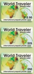 MCI international prepaid phone card is available in 3 denominations: $12.50, $25.00 and $50.00.