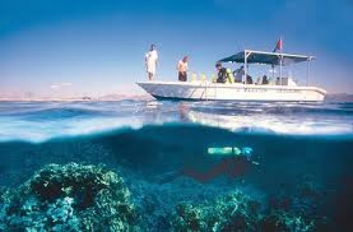 Scuba Diving off of a boat.  You can go stay on what's called a live aboard.  It has everything that you need to go on a week long scuba diving trip.