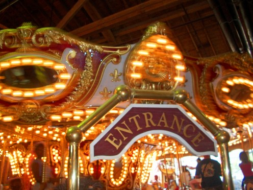 The Indoor carousel at the waterfront arcade