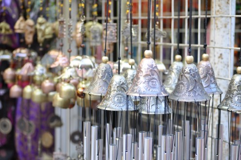 Lovely windchimes with their melodious moves.