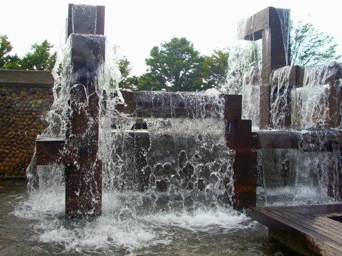 Waterfall at Seattle's Waterfront