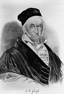 Carl Fridrich Gauss (1777-1855), a German mathematician and physicist. (source: corbisimage)