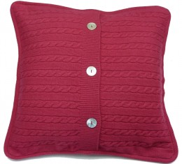 cushion cover (reverse) made from cashmere