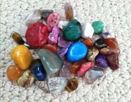 Smooth polished stones in a child's pocket can be a comforting reminder of home. In addition, these can be very helpful for the anxious child with sensory sensitivity. The smooth feel of the stones can distract them from their other fixations.