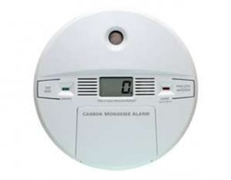 Carbon Monoxide detector typic in a family home.