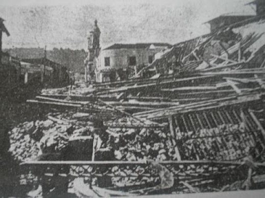 Another view of the general destruction