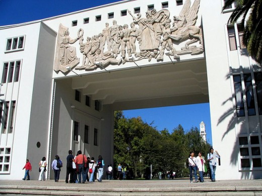 The Campus of the University of Concepcion, an important landmark in the modern city