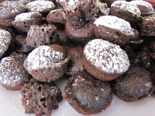 Making a mix into shaped and sprinkling with powdered sugar makes them look pretty.