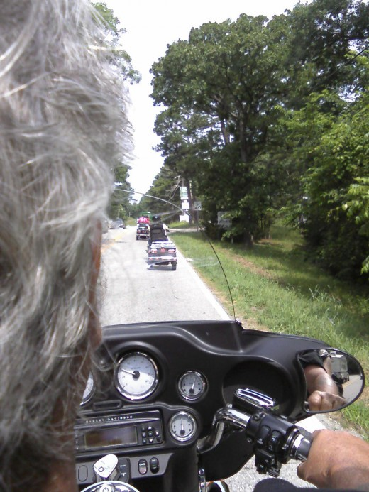 Motorcycle riders have to pay close attention to potential road hazards.