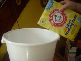 Adding the washing soda