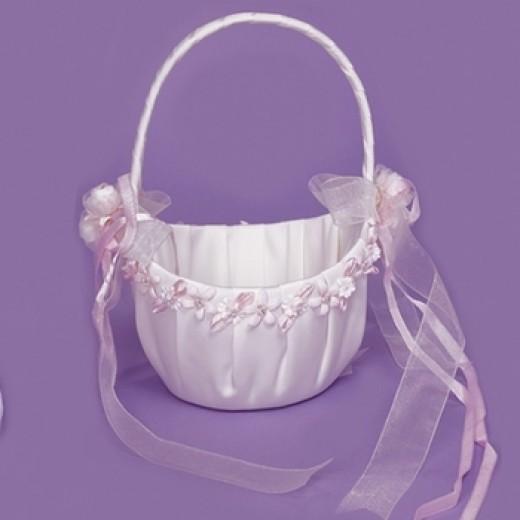 Traditional flowergirl basket