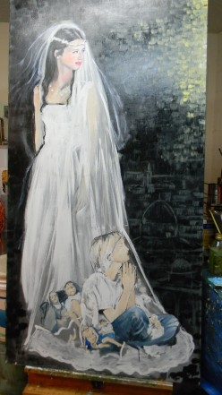 Continuation of 'Bride' painting