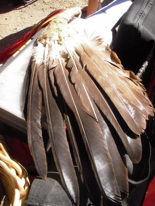 Eagle feather fan
