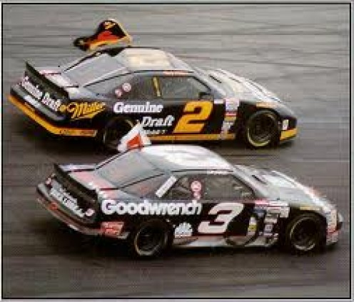 Rusty Wallace gunning for the Win. He is very good going down the stretch and win or lose he never fades.