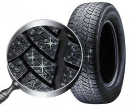 Studded tires give you extra traction -- or is that action? I get confused