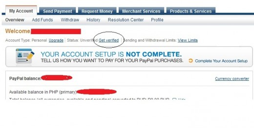how to see if my paypal is verified