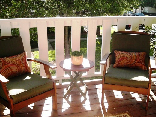 Decorated Patio - Seating arrangement