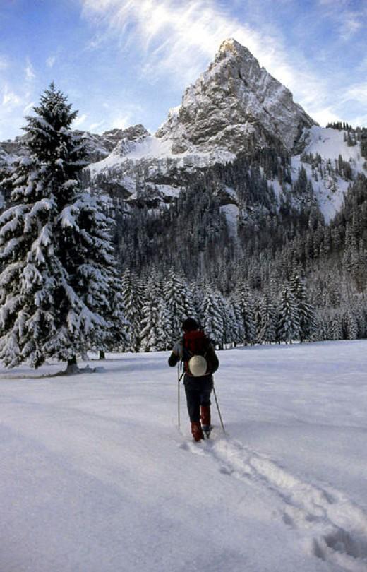 Geiselstein (Bavaria) in winter.