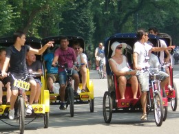 Awesome colorful bike Carriage's at Central Park