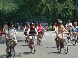 Cool biking in Central Park