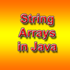 String arrays in Java Programming language